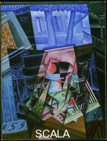 Gris, Juan (1887-1927) Still Life before an Open Window, Place Ravignan, 1915