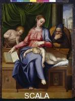 Venusti, Marcello (1512 ca.-1579) Madonna col Bambino, S. Giuseppe e S. Giovannino, 1563