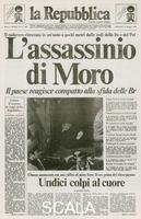 ******** Mercoledi 10 maggio 1978. Prima pagina de 'la Repubblica' con la notizia del ritrovamento del cadavere di Aldo Moro ucciso dalle brigate rosse