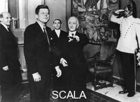 ******** President John F. Kennedy (1917-1963) with Italian president Antonio Segni (1891-1972), Quirinale Palace, Rome, 1963.