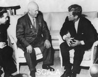 ******** President John F. Kennedy (1917-1963) and Nikita Khrushchev (1894-1971) at the US Embassy, Vienna, Austria, 1961.