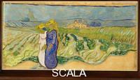 Gogh, Vincent van (1853-1890) Women Crossing the Fields, 1890.