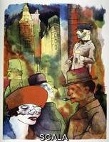 Grosz, George (1893-1959) Il crepuscolo. Dal ciclo 'Ecce Homo', Nr. XVI. 1922.