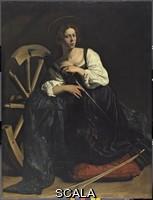 Caravaggio (Merisi, Michelangelo da 1571-1610) Santa Caterina d' Alessandria, 1598 ca. (prima del restauro)
