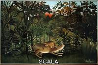 Rousseau, Henri (1844-1910) Le lion ayant faim.  20eme siecle.