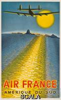 Vasarely, Victor (1906-1997) Vasarely, Victor (1908-1997). Poster advertising Air France routes to South America. 1949