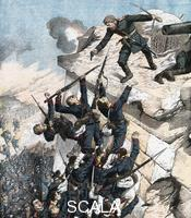 ******** Captain Lebedief heroically defending the bastion at Port Arthur, Russo-Japanese War, 1904-5.
