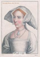 ******** Mary Tudor (1516-1558). Engraving from a painting by Holbein