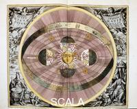 ******** Copernican (heliocentric/Sun-centred) system of the Universe, 1708.