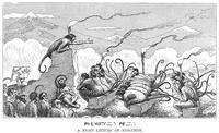 Reed, Edward Tennyson (1860-1933) 'Prehistoric Peeps: A Night Lecture on Evolution', 1894. From
