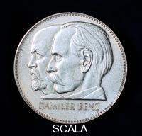 ******** Gottlieb Daimler and Karl Benz, German motor industry pioneers, 1961.