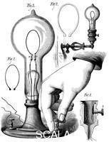 ******** Edison's carbon filament lamp, 1880.