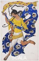 Bakst, Leon (1866-1924) La Farfalla (Disegno di costume per Anna Pavlova)