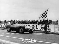 ******** Ken Wharton in a Jaguar D Type, Rheims 12 Hours Race, France, 3rd July 1954.
