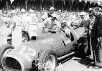 ******** Alberto Ascari at the wheel of a 4.5 litre Ferrari, Indianapolis, 1952.