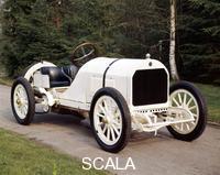******** A white 1908 Benz racer.