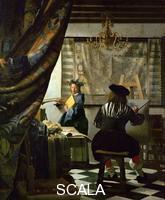Vermeer, Jan (1632-1675) Il pittore (autoritratto di Vermeer) e la sua modella come Clio, 1665-1666